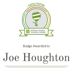 UDL Facilitator Badge - Joe Houghton