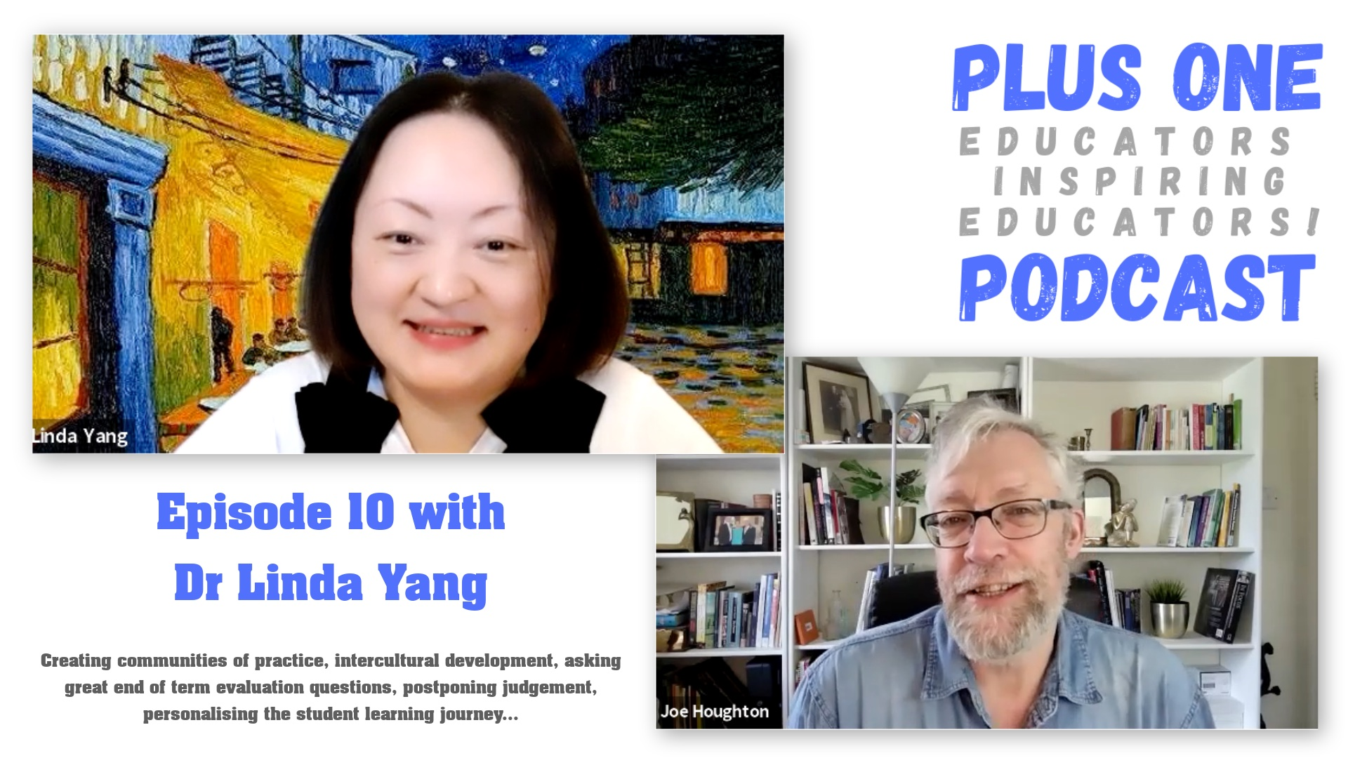 Episode 10 - Plus One Podcast - Linda Yang -