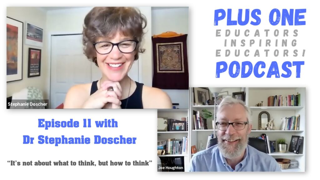 Stephanie Doscher & Joe Houghton on episode 11 of the Plus One podcast