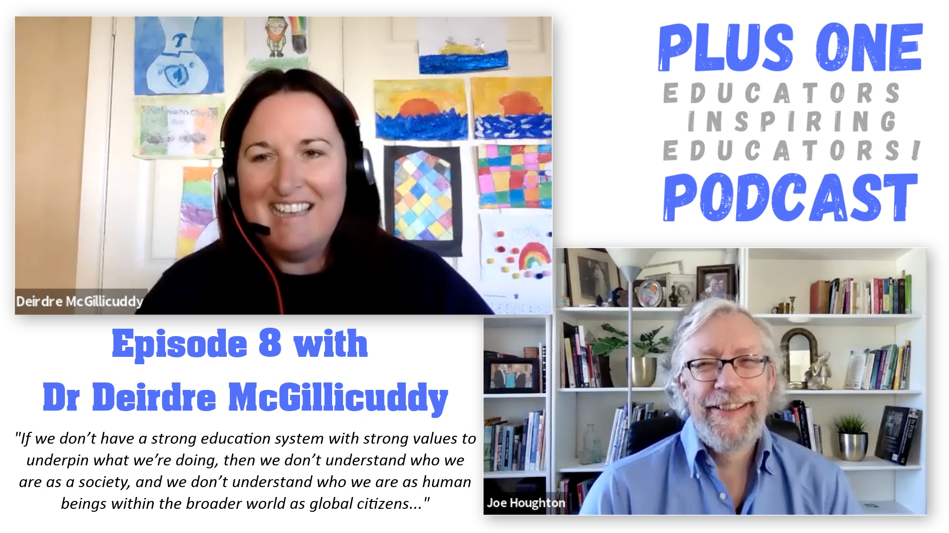 Episode 8 - Plus One Podcast - Dr Dee McGillicuddy