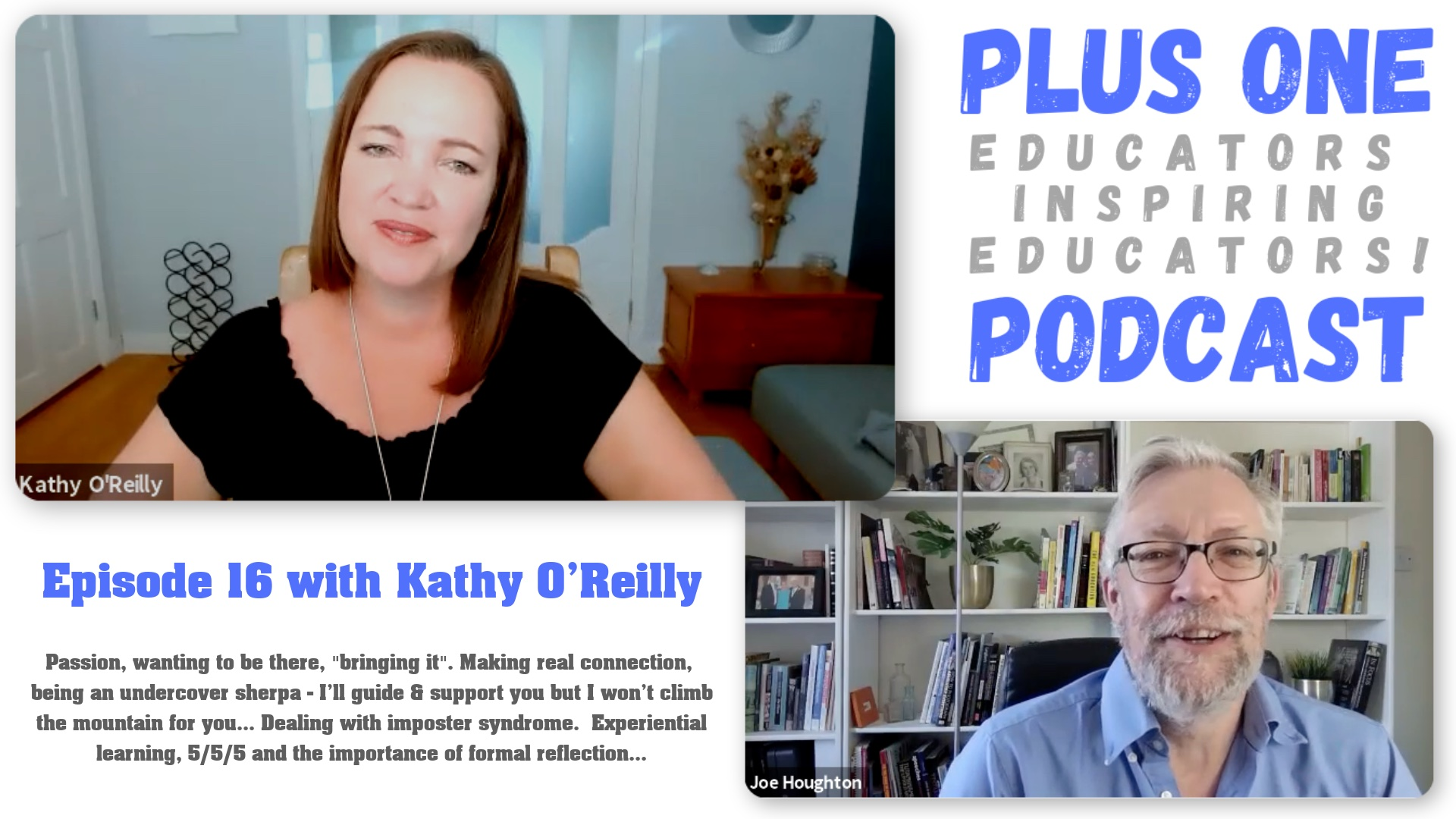 Episode 16 - Kathy O'Reilly - The Plus One Podcast